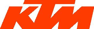 Image of a KTM Logo in orange