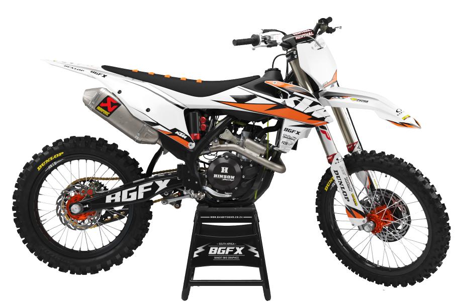 PNG Image of a Bandit Graffix Semi Custom Bike Graphic Kit on a KTM