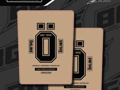 Product image of Ohlins Cleat Upper Fork Decals