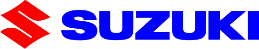 Image of a Suzuki logo in blue and red